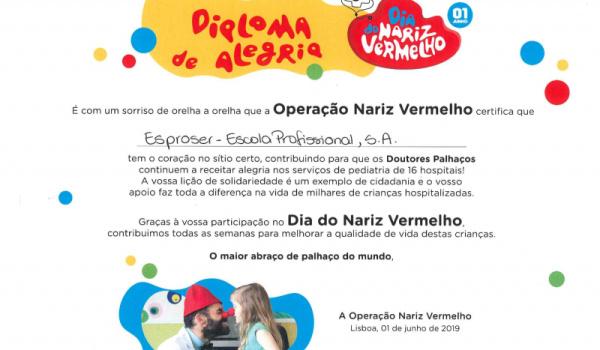 """Participação da ESPROSER na """"Operação Nariz Vermelho"""""""