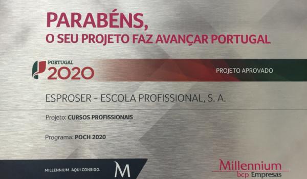 Programa de Investimento da ESPROSER distinguido pelo Millennium BCP Empresas