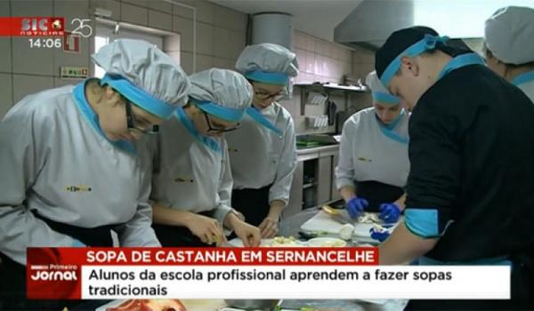 Alunos da ESPROSER no Primeiro Jornal da SIC