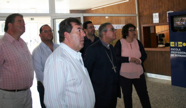 Bispo da Diocese de Lamego, D. António Couto, visita a Escola Profissional de Sernancelhe